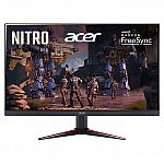"(Back) Acer Nitro 27"" Class FHD IPS FreeSync Gaming Monitor (VG270) $149.99"