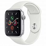 Apple Watch Series 5 GPS, 44mm, With Sport Band $329