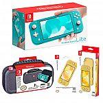 Nintendo Switch Lite Turquoise Bundle $230