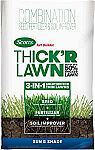 40-Lb Scotts Turf Builder Thick'R Lawn Sun & Shade (3 in 1 Lawn Fertilizer, Seed, Soil Improver) $10 (Was $50)