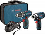 Bosch 12v Lithium Ion Drill+Driver set + filler $81.38 & More