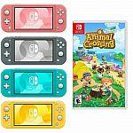Nintendo Switch Lite Console + Animal Crossing $260