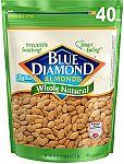 40 Oz Blue Diamond Almonds, Raw Whole Natural $10.98