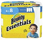 6-Pack Bounty Essentials Select-A-Size Paper Towels Big Rolls $4