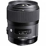 Sigma 35mm f/1.4 DG HSM Art Lens $599