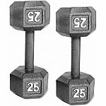 CAP Barbell Cast Iron Dumbbell, 25 lb Pair $50