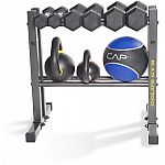 "Gold's Gym 24"" Utility Dumbbell, Kettlebell & Medicine Ball Weight Rack $33"