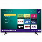 """Hisense 58"""" Class 4K UHD LED Roku Smart TV HDR 58R6E3 $278"""