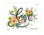 100 Love Flourishes First Class Forever Postage Stamps $41