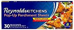 30-Count Reynolds Kitchens Pop-Up Parchment Paper Sheets, 10.7x13.6 Inch $2.83