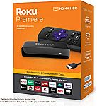 Roku Premiere | HD/4K/HDR Streaming Media Player $24.99