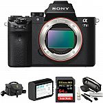 Sony Alpha a7 II Mirrorless Digital Camera with Accessory Kit $898