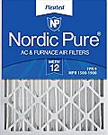 2-ct Nordic Pure MERV 12 Pleated AC Furnace Air Filters $29 (Org $45) & More