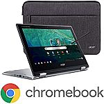 Acer Chromebook Spin 11 HD Convertible Laptop (N3350 4GB 32GB) + Wacom Pen + Sleeve $329.99