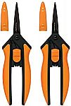 2-Pack Fiskars Non-stick Micro-Tip Pruning Snips $16.50