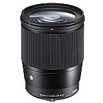 Sigma 16mm f/1.4 DC DN Contemporary Lens for Sony E-mount Cameras $319