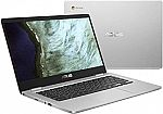 "ASUS Chromebook 14"" HD Laptop (N3350 4GB 32GB C423NA-DH02) $190"