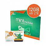 Mint Mobile 12GB/mo 12-Month Prepaid SIM Card Kit $240