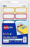 (Back) Avery 0.75 x 1.75 Inches Durable Labels for Kids Gear, Assorted, Pack of 60 $1.88