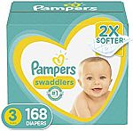 Pampers Swaddlers Diapers (Size 3, 4 or 5) from $36 or Less