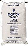 Morton Table Salt, Non Iodized Salt, 25 Pound $4.98