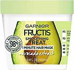 3.4-oz Garnier Fructis Smoothing Treat 1 Minute Hair Mask w/ Avocado Extract $1.60 (Reg. $5)