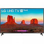 "LG UK6300PUE 49"" Class HDR UHD Smart IPS LED TV $299.99"