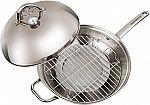 "Master Pan MasterWok Multi-Use Wok, 13"", Stainless Steel $50 (orig. $120)"
