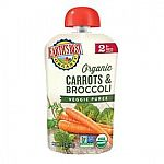 12-Pack 3.5-Ounce Earth's Best Organic Stage 2 Baby Food (Carrots and Broccoli) $1.12