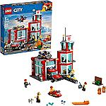 LEGO City Fire Station 60215 Fire Rescue Tower Building Set $56