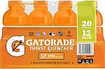 12-Ct 20-oz Gatorade (Orange or Fruit Punch) $7