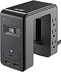 APC 6-Outlet + USB Desk Mount Power Station (1080 Joules) $23