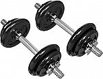 AmazonBasics Adjustable Barbell Lifting Dumbells Weight Set with Case - 38 Pounds $52