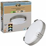 Hampton Bay Brushed Nickel Selectable LED Flush Mount Ceiling Light $17