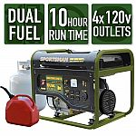 Sportsman 4,000/3,500-Watt Dual Fuel Powered Portable Generator $269 and more