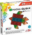 Magna-Qubix 29-Piece Clear Colors Set (STEM Approved) $16