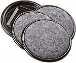 4-Ct SoftTouch 2-1/2 Inch Round Carpet Bottom Furniture Caster Cups $1.50