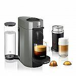 De'Longhi Nespresso VertuoPlus Coffee & Espresso Maker w/ Milk Frother $125
