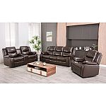 Lawrence 3-Piece Reclining Set - Sofa, Console Loveseat, Glider Recliner $1499