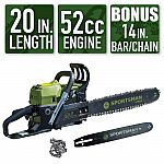 Sportsman 2-in-1 20 in. and 14 in. 52cc Gas Chainsaw Combo $119 and more