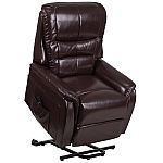 Flash Furniture HERCULES Series Brown Leather Faux Leather Recliner $215
