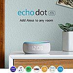 Amazon Echo Dot (3rd Generation) Smart Speaker with Clock $35