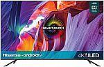 """Hisense 50"""" 50H8G H8 Quantum 4K ULED Smart TV $380"""