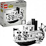 LEGO Ideas 21317 Disney Steamboat Willie Building Kit (751 Pieces) $71.98