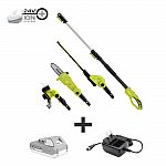 Sun Joe 24-Vt Cordless Lawn Care System (Hedge Trimmer, Pole Saw, Grass Trimmer) w/ 2.0 Ah Battery + Charger $110