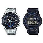 Casio Pro Active Bundle Pack Edifice and Mud Resist Men's Watches $79.95