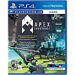 Apex Construct Standard Edition, Flipping Death & More  PlayStation 4 & PlayStation VR Games $4.99