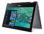 "Acer Spin 1, 11.6"" FHD Touch Laptop (N4200 4GB 64GB) $269"