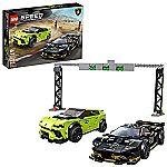 LEGO Speed Champions Lamborghini Urus ST-X and Lamborghini Huracán Super Trofeo EVO 76899 Building Kit $44.99