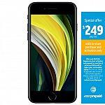 AT&T Prepaid Apple iPhone SE 64GB (2020) w/ $50 Prepaid Plan $249
